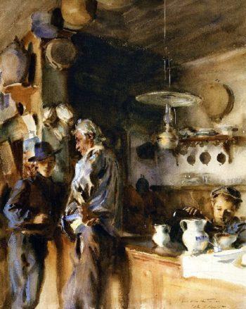 A Venetian Interior | John Singer Sargent | oil painting
