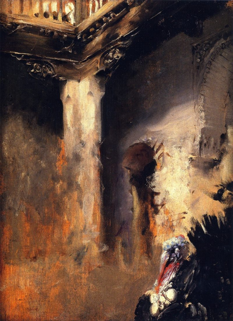Turkey in a Courtyard | John Singer Sargent | oil painting