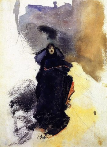 Woman in a Gondola | John Singer Sargent | oil painting