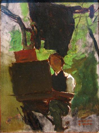 Schilder aan het werk | Jacob Maris | oil painting