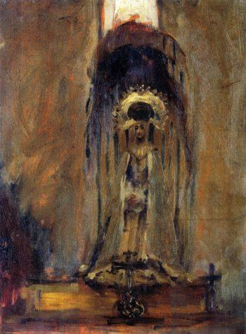 Sketch of a Spanish Madonna | John Singer Sargent | oil painting