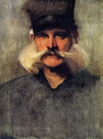 Study of a Man Wearing a Tall Black Hat | John Singer Sargent | oil painting