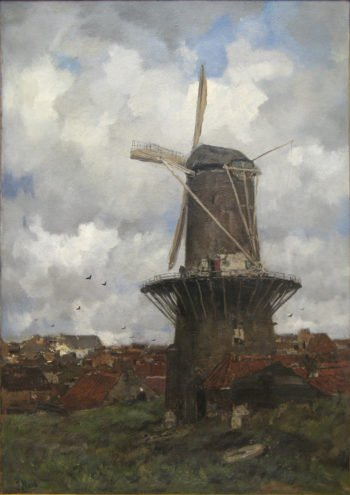 The Windmill | Jacob Maris | oil painting