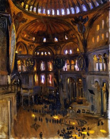 Sketch of Santa Sophia | John Singer Sargent | oil painting