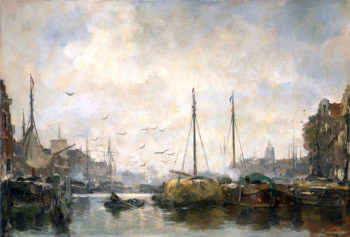 View of a Town | Jacob Maris | oil painting