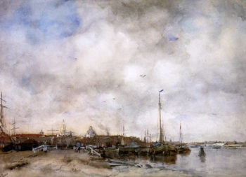View on a city | Jacob Maris | oil painting