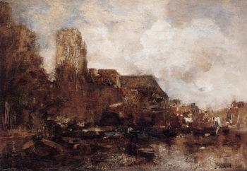 View on Dordrecht | Jacob Maris | oil painting