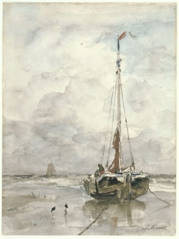 Visserspink aan het strand | Jacob Maris | oil painting