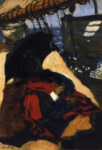 The Artist's Mother Aboard Ship | John Singer Sargent | oil painting