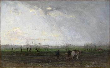 Voorjaarslandschap | Jacob Maris | oil painting
