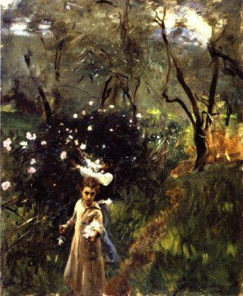 Children Picking Flowers | John Singer Sargent | oil painting
