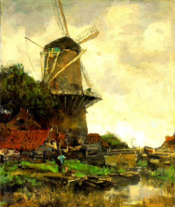Windmill | Jacob Maris | oil painting
