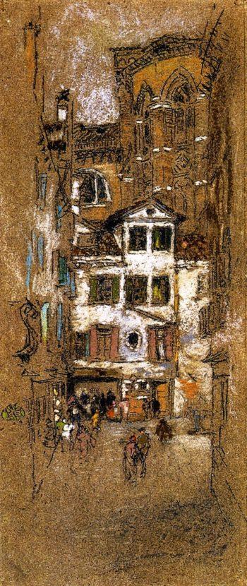 Under the Frari | James Abbott McNeill Whistler | oil painting