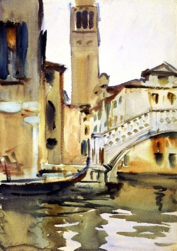 Bridge and Campanile Venice | John Singer Sargent | oil painting