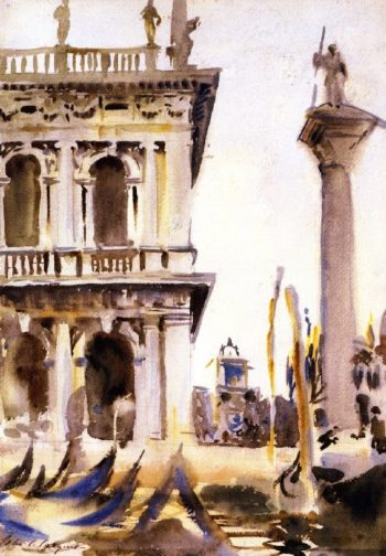 Corner of the LIbreria Venice | John Singer Sargent | oil painting