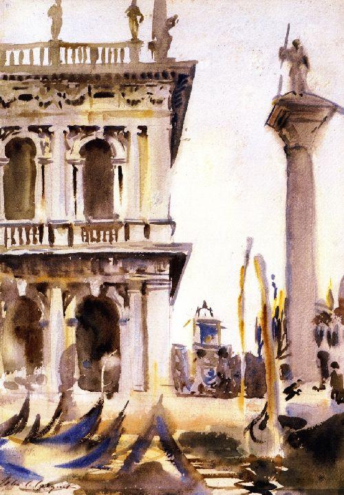 Corner of the LIbreria Venice | John Singer Sargent | oil painting