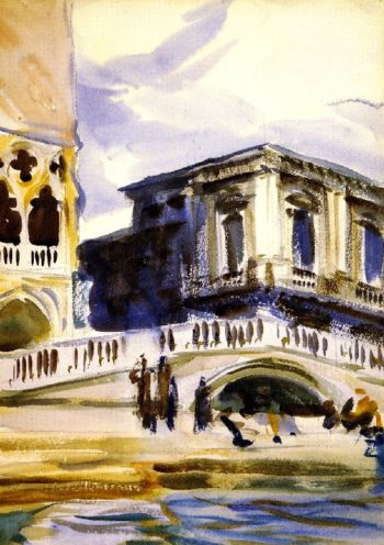 Doge's Palace and Prison   John Singer Sargent   oil painting