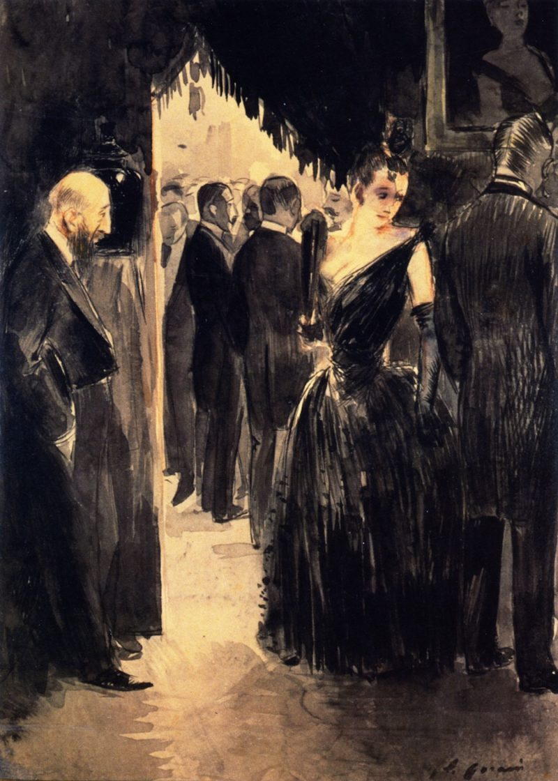 The Look | Jean Louis Forain | oil painting