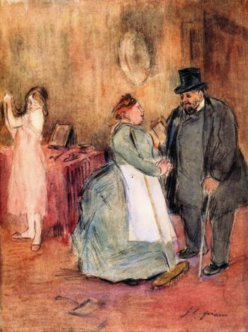 The Visit | Jean Louis Forain | oil painting