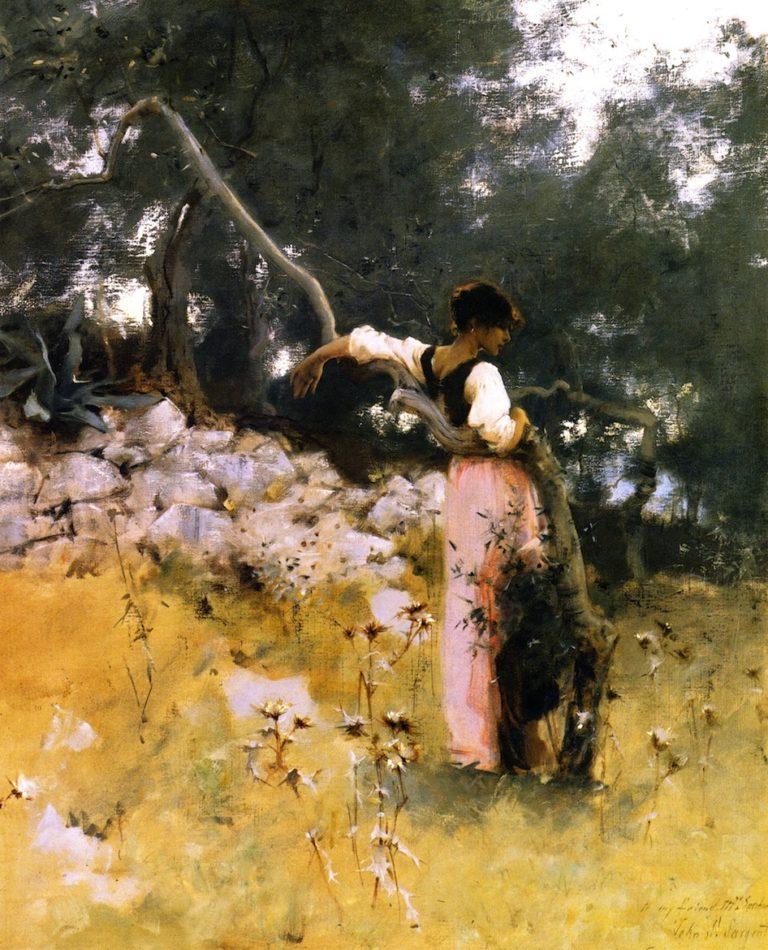 Capri Girl | John Singer Sargent | oil painting