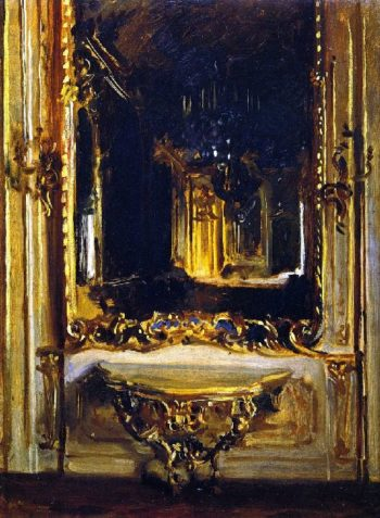The Rococo Mirror | John Singer Sargent | oil painting