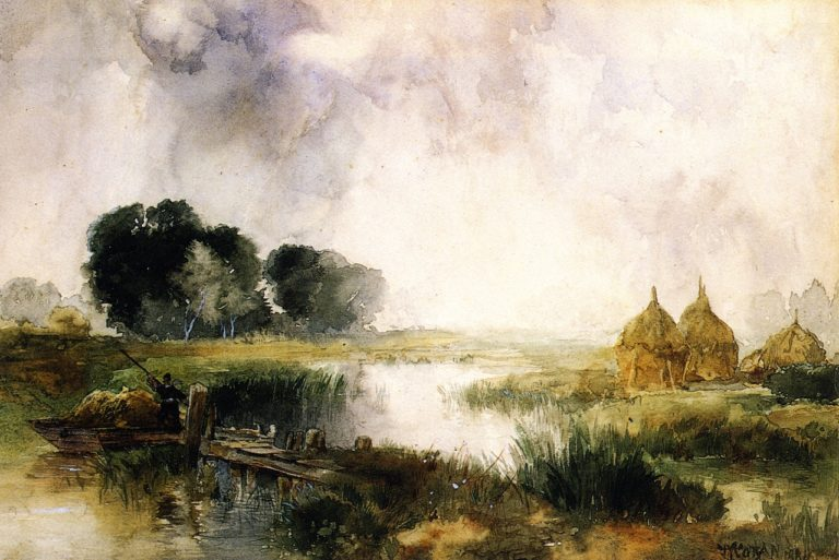 A Showery Day Long Island | Thomas Moran | oil painting