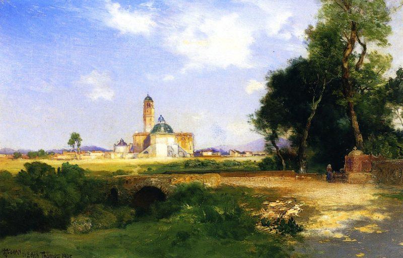 Church at Teoloyacan   Thomas Moran   oil painting