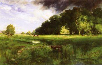 Summer Squall   Thomas Moran   oil painting