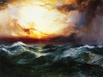 Sunset after a Storm   Thomas Moran   oil painting