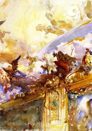 Tiepolo Ceiling Milan | John Singer Sargent | oil painting