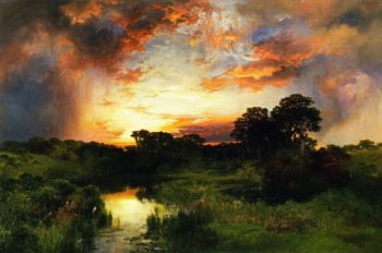 Sunset from the Inlet   Thomas Moran   oil painting