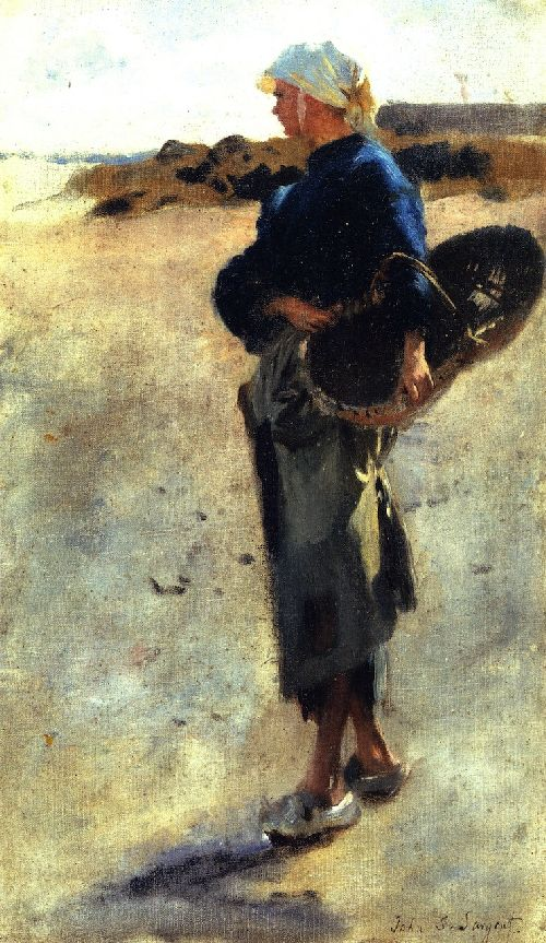Study for Oyster Gatherers at Cancale 3 | John Singer Sargent | oil painting