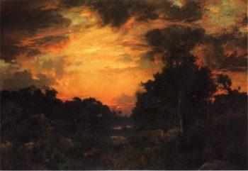 Sunset on Long Island 1   Thomas Moran   oil painting