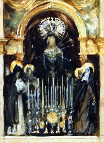 Virgin and Saints Spain | John Singer Sargent | oil painting