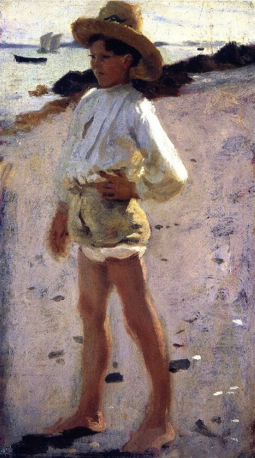 Study for Oyster Gatherers at Cancale 2 | John Singer Sargent | oil painting