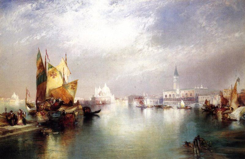 The Splendor of Venice   Thomas Moran   oil painting