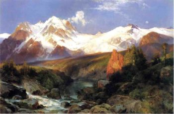 The Teton Range | Thomas Moran | oil painting