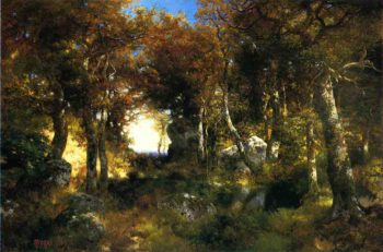 The Woodland Pool | Thomas Moran | oil painting