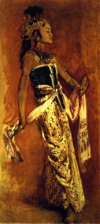 A Javanese Dancer | John Singer Sargent | oil painting
