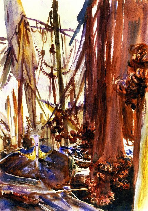 Venetian Fishing Boats | John Singer Sargent | oil painting