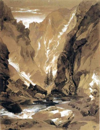 Toltec Gorge Colorado | Thomas Moran | oil painting