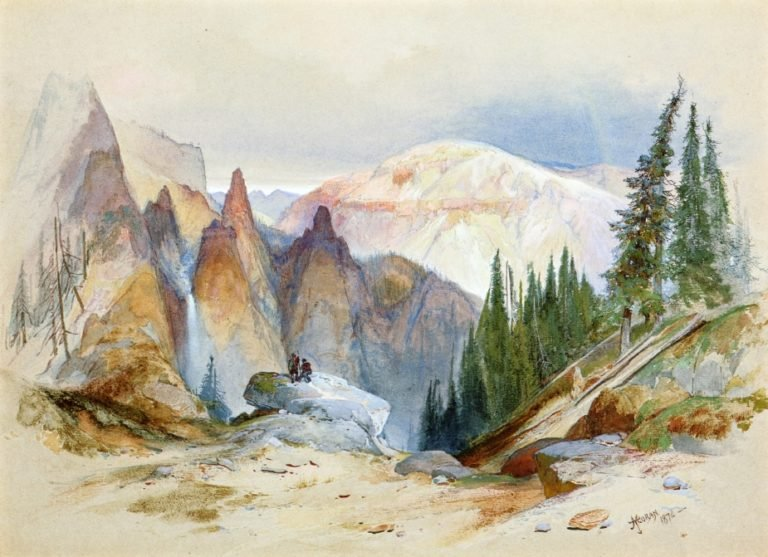 Tower Falls and Sulphur Mountain Yellowstone | Thomas Moran | oil painting