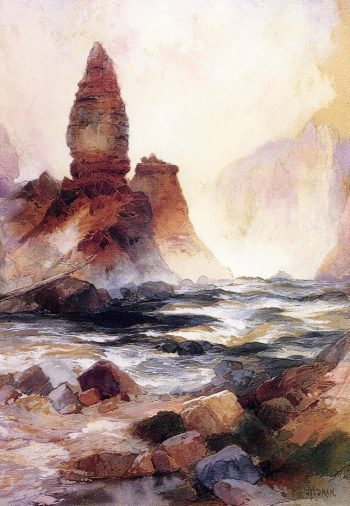 Tower Falls and Sulphur Rock Yellowstone | Thomas Moran | oil painting