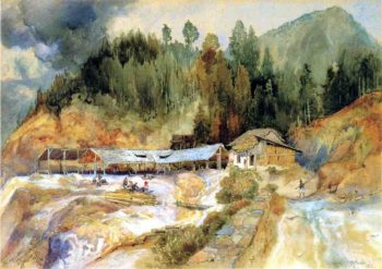 Trojes Mine | Thomas Moran | oil painting