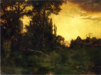 Twilight | Thomas Moran | oil painting