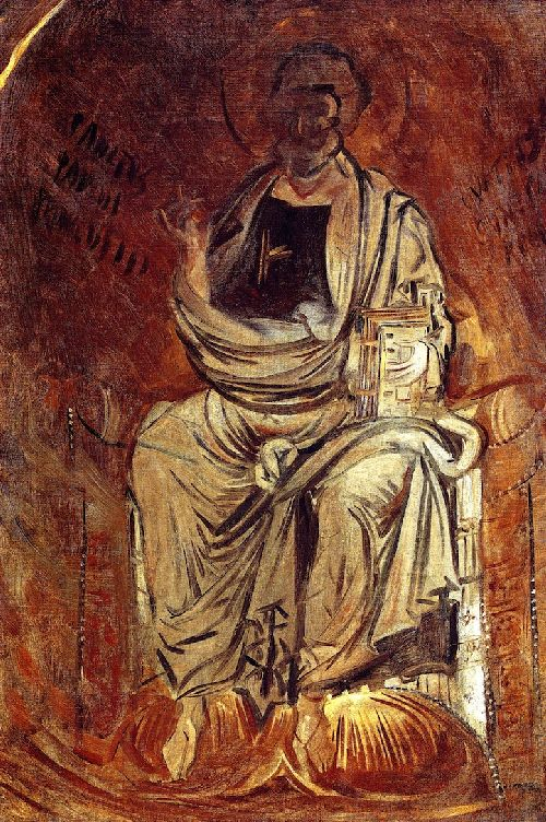 A Saint Holding a Book | John Singer Sargent | oil painting