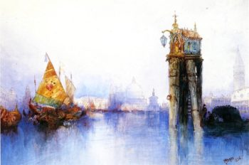 Venetian Canal Scene 1 | Thomas Moran | oil painting