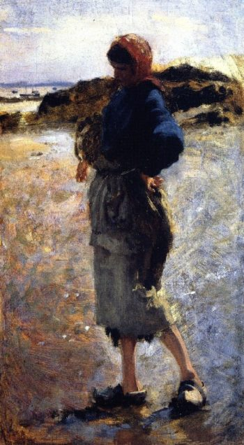 Study for Oyster Gatherers at Cancale 1 | John Singer Sargent | oil painting