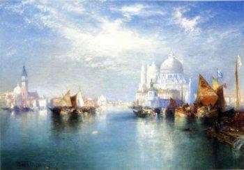 Venetian Canal Scene | Thomas Moran | oil painting