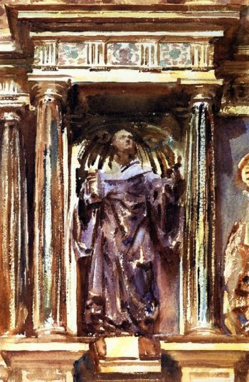 In a Church at Granada | John Singer Sargent | oil painting
